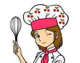 Desenho Cozinheira pintado por alinegomes