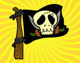 Desenho Jolly Roger pintado por daniel12