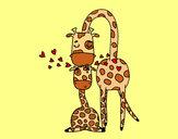 Desenho Mamã girafa pintado por Mariaana