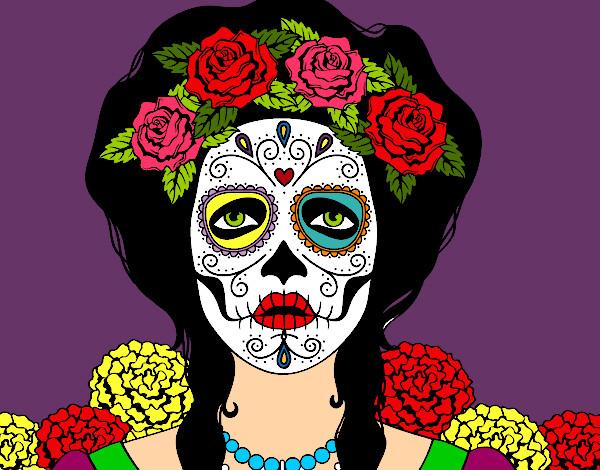 Desenho de Caveira mexicana pintado e colorido por Bebeta o dia 20 ...