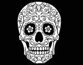 Desenho Caveira mexicana pintado por bans