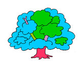 Desenho Árvore pintado por mariajose
