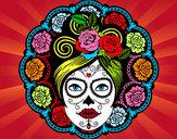 Desenho Caveira mexicana feminina pintado por wDSADSA