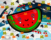 Desenho Fatia de melancia pintado por DiegoPeira