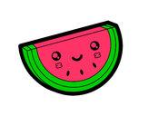 Desenho Fatia de melancia pintado por luzinda