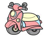 Desenho Motocicleta Vespa pintado por jansouza