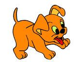 Desenho Cachorro pintado por luzinda