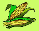 Desenho Espiga de milho  pintado por Chocante