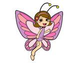 Desenho Fada borboleta contente pintado por yasmin11