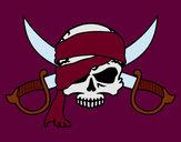 Desenho Símbolo pirata pintado por lukaspx
