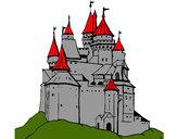 Desenho Castelo medieval pintado por iriis