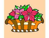 Desenho Cesta de flores 8 pintado por luzinda