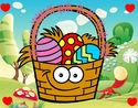 Desenho Cesta ovos de páscoa pintado por nand