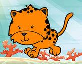 Desenho Cria de guepardo a correr pintado por MariGabi