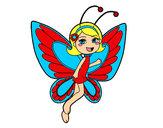 Desenho Fada borboleta contente pintado por tetefa23