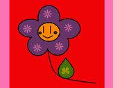 Desenho Flor feliz pintado por missmirim