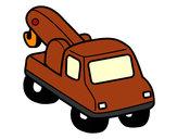 Desenho Guindaste veículo pintado por abrao
