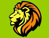 Desenho Leão tribal pintado por Barbaraeli