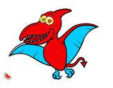 Desenho Pterossauro pintado por luzinda
