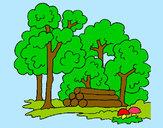 Desenho Bosque pintado por mylenna