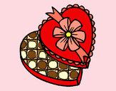 Desenho Caixa de bombons pintado por mylenna