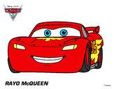 Desenho Carros 2 - Relâmpago McQueen pintado por jonatass