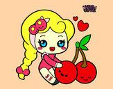Desenho Cerejas doces pintado por mylenna