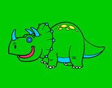 Desenho Dinossauro Tricerátopo pintado por JuGhiggi