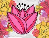 Desenho Flor de túlipa pintado por daniela200