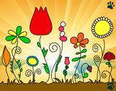 Desenho Flores da floresta pintado por mylenna