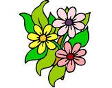 Desenho Florzitas pintado por luzinda