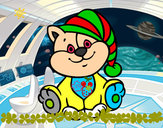 Desenho Gato com chapéu pintado por alex2009
