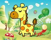Desenho Girafa vaidosa pintado por DaviLindo