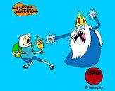 Desenho Ice Rei contra Finn pintado por DaviLindo