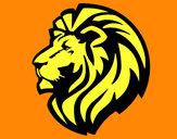 Desenho Leão tribal pintado por mylenna