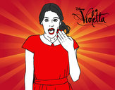Desenho Violetta surpreendida pintado por Bhunna