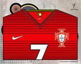 Desenho Camisa da copa do mundo de futebol 2014 de Portugal pintado por IgorF
