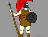 Desenho Guerreiro troiano pintado por vitorcely