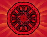 Desenho Mandala mosaico pintado por IgorF