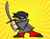 Desenho Ninja em posição pintado por daniel12