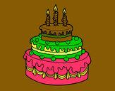 Desenho Torta de Aniversário pintado por vitorcely