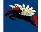 Desenho Unicórnio alado pintado por keilinha