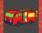 Bombeiros no camião