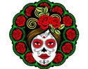 Desenho Caveira mexicana feminina pintado por soucha