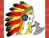Desenho Índio com grandes plumas pintado por REGIONAL