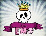 Desenho Love Emo pintado por lol2100