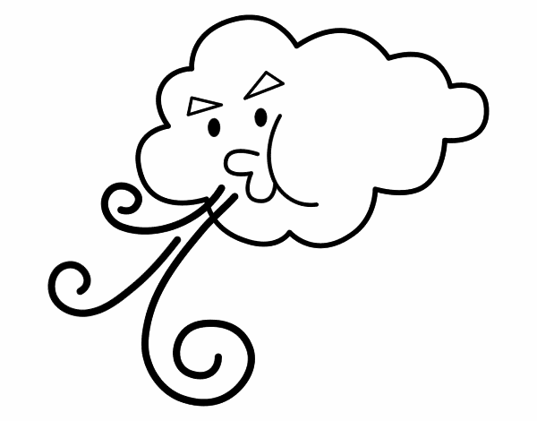 Nuvem soprando
