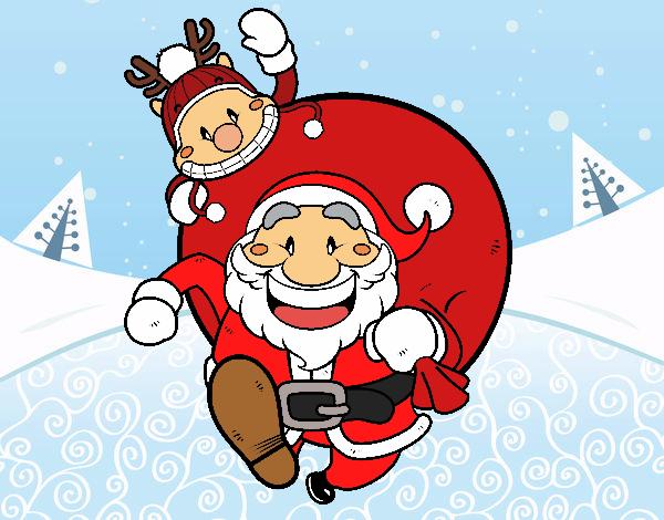 Pai Natal e Rudolph