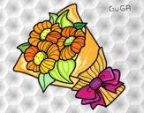 Desenho Ramo de margarida pintado por amauri