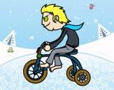 Desenho Rapaz no triciclo pintado por saralee